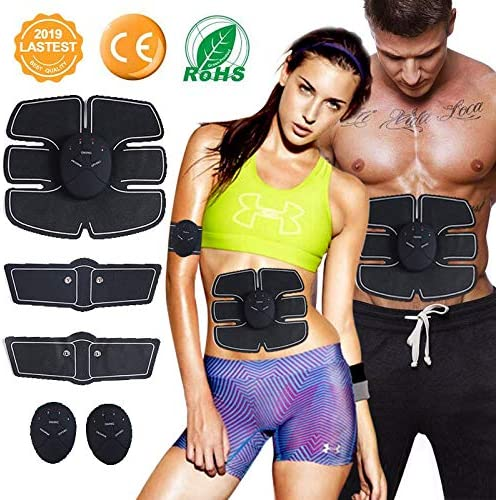 EMS Muscle Stimulator,Abdominal Stimulator Muscle Toner Stomach Toning Belt Abs Pad Muscle Training for Men /& Women MASOMRUN Abs Trainer