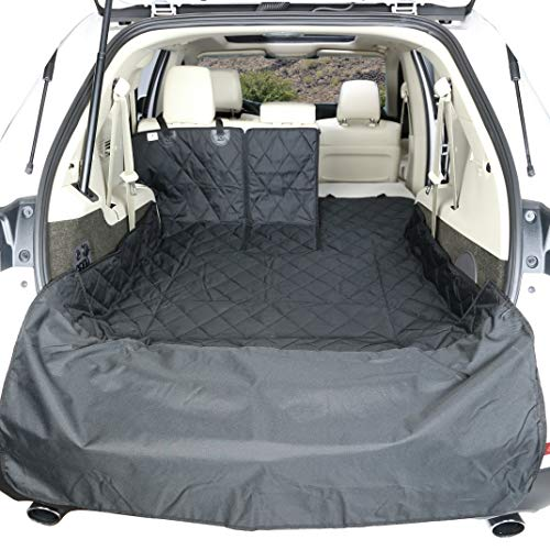 4Knines SUV Cargo Liner for Fold Down Seats - 60/40 Split and armrest Pass-Through fold Down Compatible - Black Extra Large - USA Based Company by 4Knines (Image #1)
