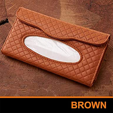 PU Leather Backseat Tissue case Holder Fits for Car Vehicle Black Car Tissue Holder Sun Visor Napkin Holder Car Visor Tissue Holder Black//Beige//Brown