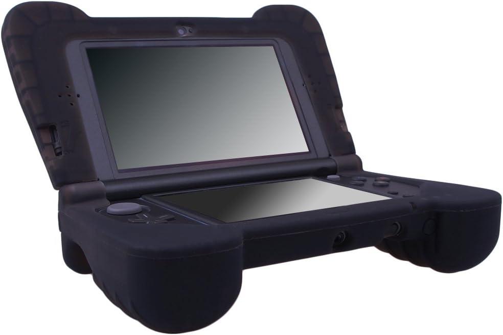 New 3DS LL 用シリコン スキン ケース 保護カバー x 1 耐衝撃 ラバー ハンド グリップ プロテクター ブラック (3DS LL適用できない)