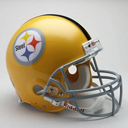 4ad8edbdd16c8 Riddell – Réplica de casco Pittsburgh Steelers 1962 Throwback de tamaño  completo Authentic Casco