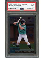2000 topps chrome traded #t40 MIGUEL CABRERA florida marlins rookie card PSA 9 Graded Card