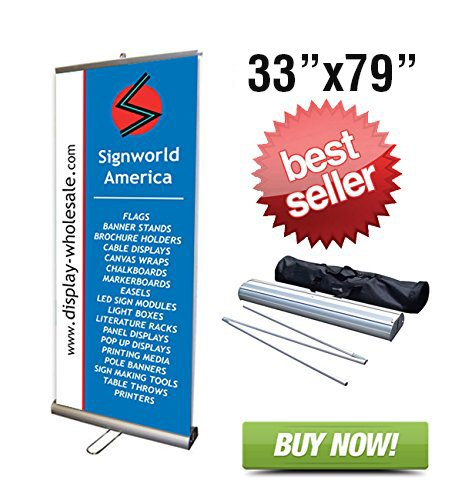 Signworld Double Sided Retractable Roll Up Banner Stand 33