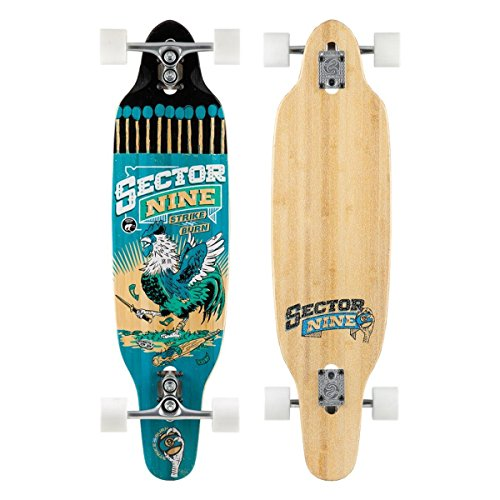 Sector 9 Striker Complete 37 Inch Bamboo and Fiberglass Drop Through Longboard for Carving