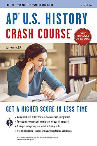 AP® U.S. History Crash Course, 4th Ed.,  Book + Online (Advanced Placement (AP) Crash Course) cover
