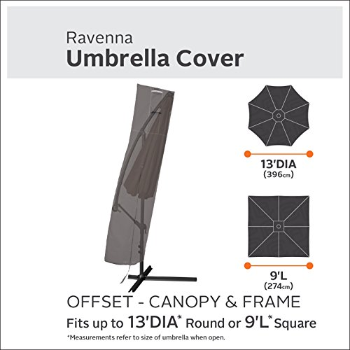 Classic Accessories Ravenna Offset Patio Umbrella & Frame Cover - Premium Outdoor Furniture Cover with Durable and Water Resistant Fabric (55-708-015101-EC) by Classic Accessories (Image #1)