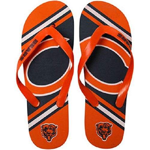 NFL Chicago Bears 2013 Big Logo Flip Flop, Large, Blue by Forever Collectibles