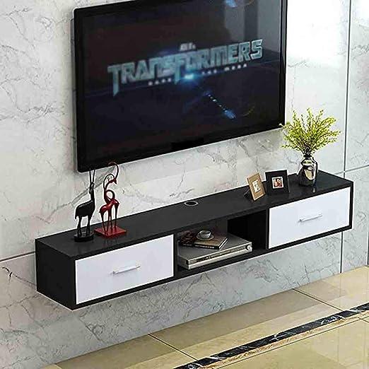 GODLOVEYOU TV Lowboard TV Muebles de Mesa, 2 cajones, 1 ...