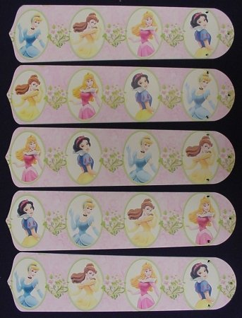 Ceiling Fan Designers 52SET-DIS-PPD Disney Princesses- Dancing 52 in. Ceiling Fan Blades Only by Ceiling Fan Designers
