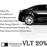 Wimax Dark Smoke 20% VLT 60 In x 100 Ft (60 x 1200 Inch) Feet Uncut Roll Window Tint Film Auto Car Home