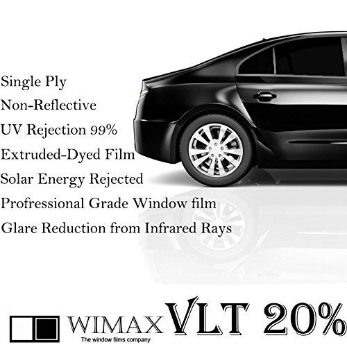 Wimax Dark Smoke 20% VLT 60 In x 100 Ft (60 x 1200 Inch) Feet Uncut Roll Window Tint Film Auto Car Home