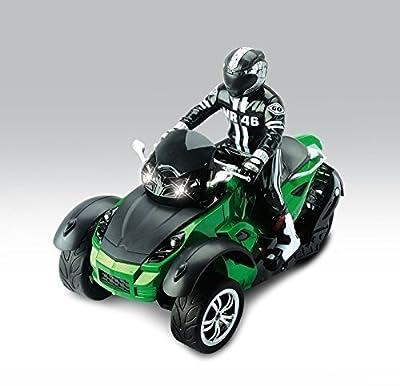 HAK142 MotoHawk Multi-Functional 3 Wheeled ATV Ready-to-Run RC Motorcycle w/ LED Headlights