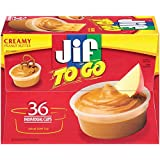 Jif To Go Creamy Peanut Butter, 1.5 Ounce (Pack of 36)