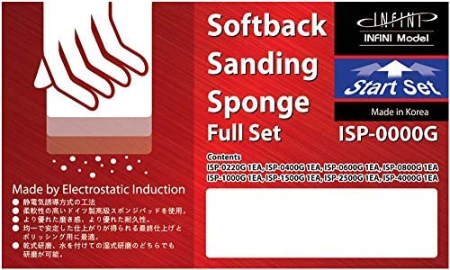 インフィニモデル スポンジやすり フルセット (220番-4000番 計8枚セット) ホビー用工具 ISP0000G