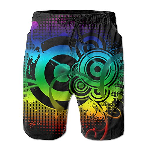 DJ Music Men's Cool Ultra-light Breathable Quick Dry Board Shorts Trunks Beach Shorts Board Shorts