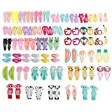 Sufermoe 100 Pcs(50 Pairs) Hair Clips Animal printed pattern Hairpins Non-slip Hair Barrettes Hair Accessories For Dogs