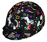Equestrian Riding Helmet Cover - Rainbow & Unicorn