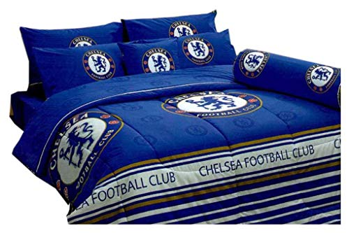 - Tamegems Bedding Chelsea FC Football Club Official Licensed Bed Sheet Set, Fitted Sheet, Pillow Case, Bolster Case (Not Included Comforter) CS001 Set B (Queen(60