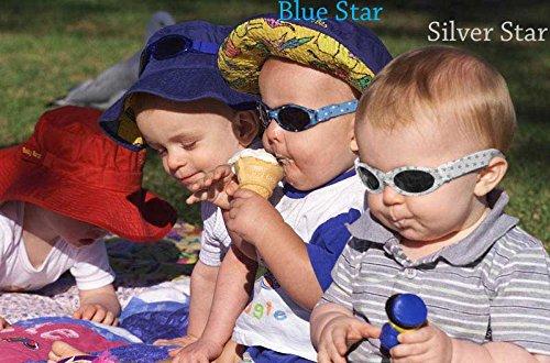 Baby Banz - Lunettes de soleil - Bébé (garçon) 0 à 24 mois Bleu Blue with stars