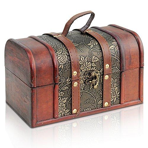 Diverse Misure Stile Vintage con o Senza Serratura Scrigno del Tesoro dei Pirati in Legno Madrid Tesoro Realizzato a Mano Brynnberg Thunderdog
