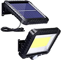 Solarlampen für Außen mit Bewegungsmelder, ZOYJITU 100 LED Strahler Außen 120° Superhelle Solarleuchten für Außen LED...