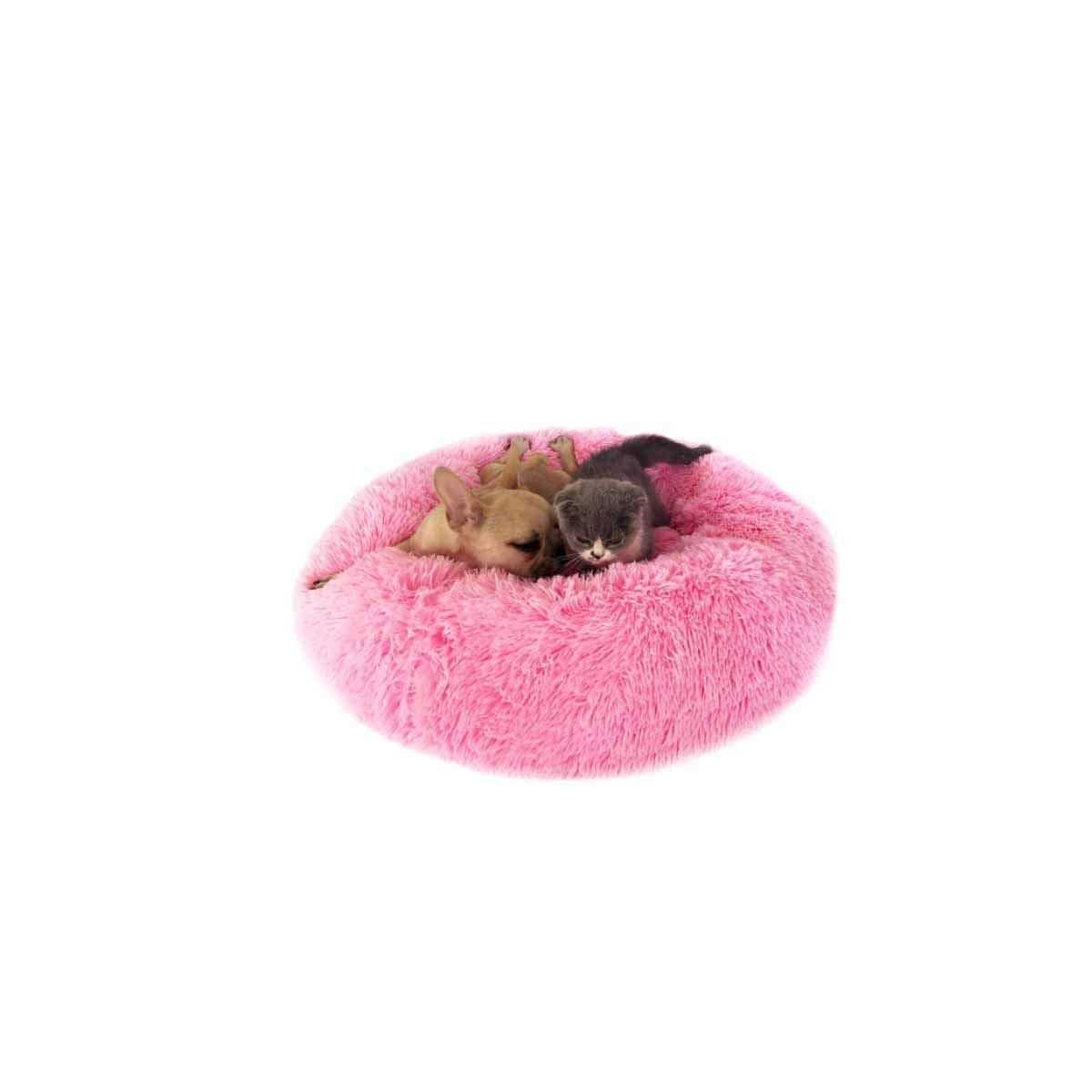 Beige SMuziwenju Kennel, Cat Litter, Warm Deep Sleep Cat Litter, Round Plush Autumn and Winter Pet Nest, Red OD 70CM (color   Beige, Size   S)