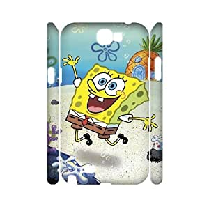WJHSSB SpongeBob Phone 3D Case For Samsung Galaxy Note 2 N7100 [Pattern-1]