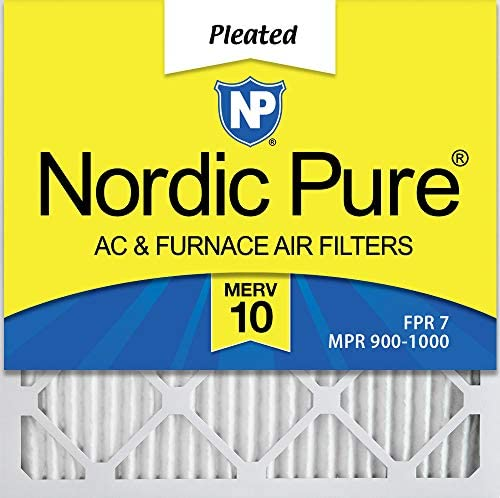 Nordic Pure 20x22/_1//4x1 Exact MERV 10 Pleated AC Furnace Air Filters 6 Pack