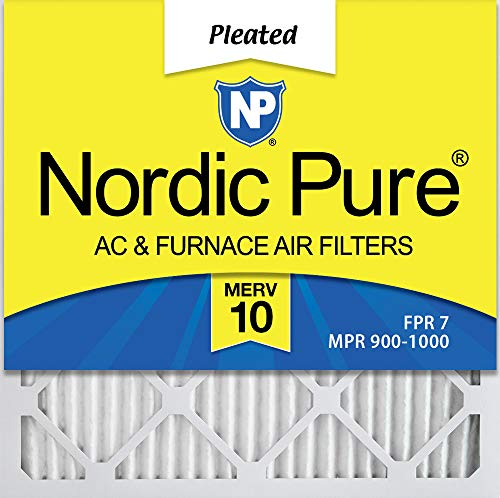 (Nordic Pure 12x12x1 MERV 10 Pleated AC Furnace Air Filter, Box of 6)