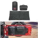 Voodonala Canvas 1PC Tailgate Cargo Storage Bag & 2PCS Tool Kit Organizer Pockets for 2007-2017 Jeep Wrangler
