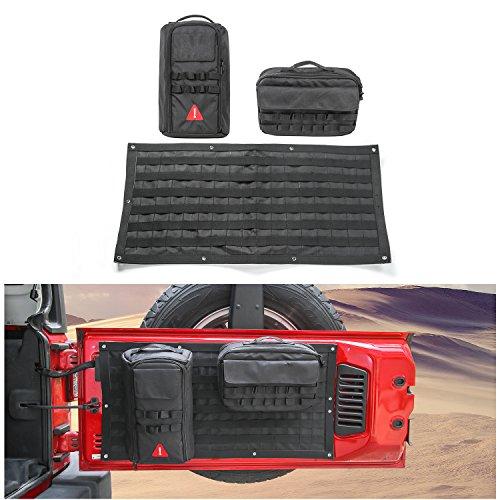 Voodonala Canvas Tailgate Cargo Storage Bag & Tool Kit Organizer Pockets for 2007-2018 Jeep Wrangler JK JL Unlimited