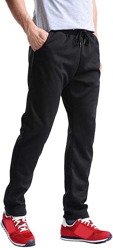 Allywit Mens Long Casual Sport Pants Slim Fit Plaid Drawstring Trousers Running Joggers Sweatpants