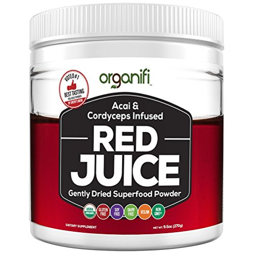 Organic Superfood Powder - Organifi - Red Juice Super Food Supplement - 30 Day Supply - USDA Certified Organic, Boosts Metabolism, and Reverses The Signs of Aging by Organifi