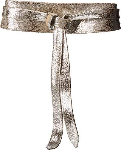 ADA Collection Women's Obi Classic Wrap Belt Silver Matrix One Size (Silver Classic Belt)