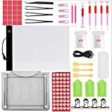 Diamond Painting Tools with Dimmable A4 LED Light Pad Board Adjustable Tablet Stand 5D Diamond Painting Pen Cross Stitch Accessories Kits for DIY Art Craft
