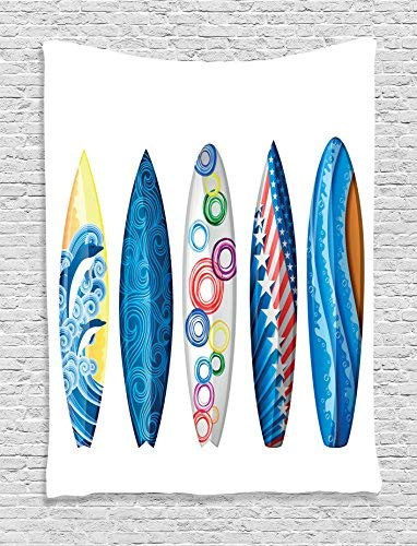 Surfboard Tapestry Wall Hanging, Surfboards American Flag Ornamental
