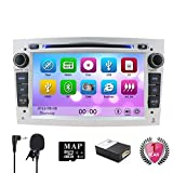 NVGOTEV 7' Car Stereo Car DVD CD Player SAT Navi GPS for Corsa Zafira Antara Astra Vectra Meriva Support GPS Navigation Audio Video Bluetooth USB SD SWC 3G WiFi FM AM RDS(Sliver)
