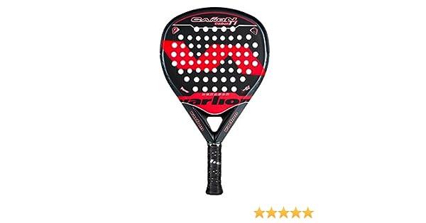Varlion Cañon Hexagon Carbon Ti roja, pala de pádel, forma de diamante, potencia: Amazon.es: Deportes y aire libre
