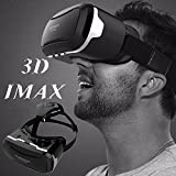 "3D VR Goggles/Headset, Virtual Reality Glasses for [3D IMAX] Movies Videos Games, Phone Box 360 Viewer for IOS iPhone 8 7 6S 6 Plus Android Samsung S8 S7 S6 Edge PC LG & Other 4.5""-6.0"" Smartphones"