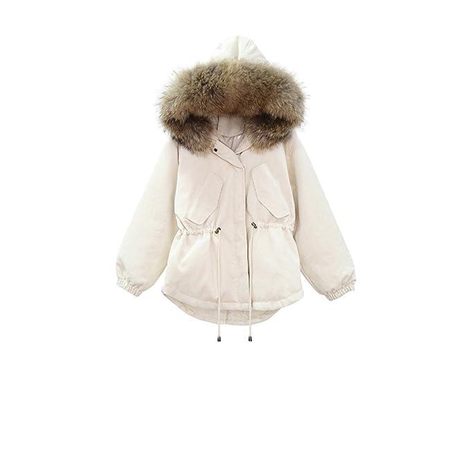 Pana de invierno para tapar el cabello para un pike abrigos Down Jacket escudo, hembra M, tirar de la cuerda blanca de leche: Amazon.es: Ropa y accesorios