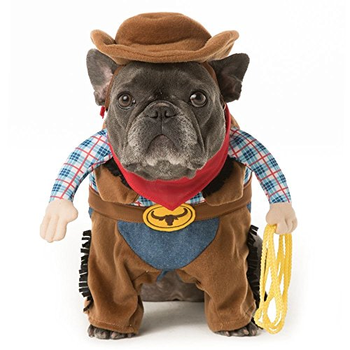 [Thrills & Chills Pet Halloween Stand Up Cowboy Pet Costume~LARGE~] (Dog Cowboy Costume)
