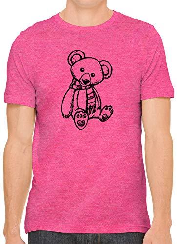 (Kids Teddy Bear Print Unisex Premium Crewneck Printed T-Shirt Tee, Berry 3XL)