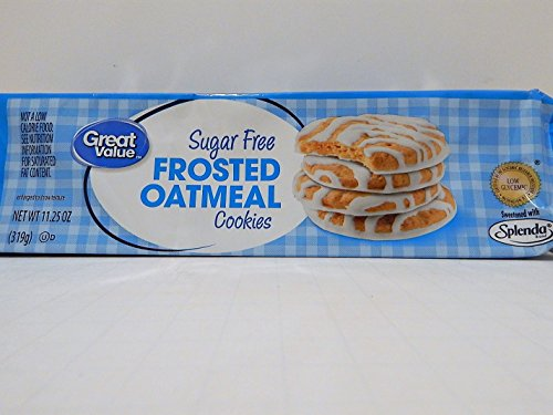 - Great Value Sugar Free Frosted Oatmeal Cookies, 11.25 oz