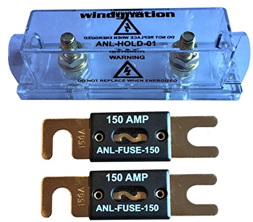 WindyNation ANL Fuse Holder + 2pcs ANL Fuses (2pcs 150A -