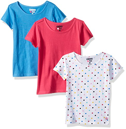 Too Shirt Limited Top - Limited Too Girls' Toddler 3 Pack Short Sleeve T-Shirt (More Styles Available), Multi Print T46944MK, 3T