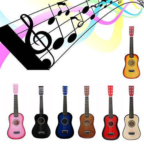 "Blueseason Kids Guitar New Mini 23"" Beginners Student Children Classical Acoustic Guitar, Black - Image 7"