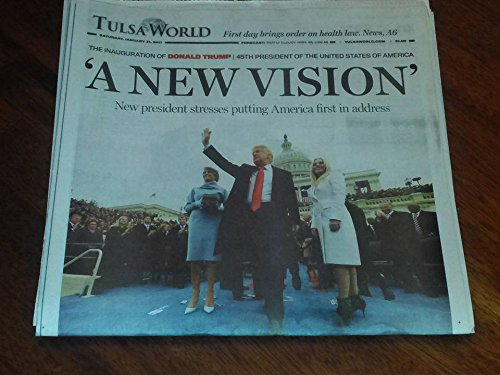 President Donald Trump Inauguration Day - January 21, 2017 Tulsa World Newspaper