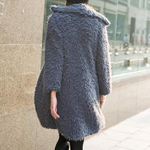 Long Wool Pure Maxi Merino Women's RkBaoye Turn Mid Collar Coat Down Color Grey zcvzWnq