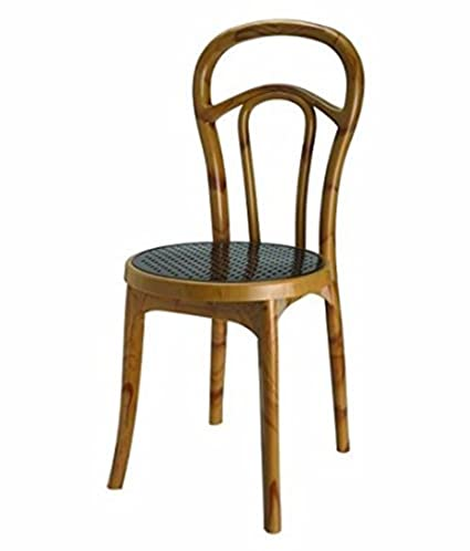 the best attitude 603a7 4d7b2 Nilkamal 4040 Solid Plastic Dining Chair, Maple Finish ...
