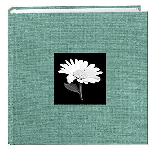 TSVP Photo Album 200 Pockets for 4x6 Photos Fabric Frame Cover Tranquil Aqua